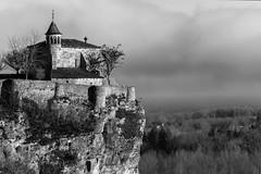 Chapelle (dprezat) Tags: belcastel lacave château castle midipyrénées quercy sudouest lot 46 departementdulot landscape nikon d800 nikond800 occitanie occitania nb noiretblanc bw blackandwhite monochrome