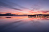 Loch Lomond Sunrise (littlenorty) Tags: buildings colour fujixt2 gear landscape loch lomond luss nature pier reflection scotland sunrise symmertry type unitedkingdom wood fuji1655