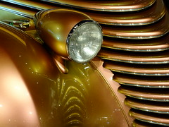 Golden Grill (Tim @ Photovisions) Tags: car headlight carshow grill rod hotrod custom reflection x30 fuji fujifilm