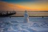 Contemplation (A Great Capture) Tags: snow snowman snowwoman snowperson dock lakeshore lake miniture peir agreatcapture agc wwwagreatcapturecom adjm ash2276 ashleylduffus ald mobilejay jamesmitchell toronto on ontario canada canadian photographer northamerica torontoexplore winter l'hiver