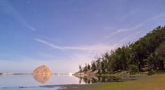 Morro by Moonlight (Ryan Jeske) Tags: longexposure canon80d tripod landscape moonlight reflection water star sky wideangle canon canonefs1022mm california morrobay