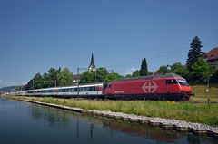 IC 818 @ Bürglen (Wesley van Drongelen) Tags: sbb cff ffs schweizerische bundesbahnen chemins de fer fédéraux federaux suisses ferrovie federali svizzere swiss federal railways ic intercity ew iv ewiv serie class type re 460 re460 bürglen burglen buerglen trein train zug