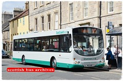 EAST COAST BUSES 10194 RIG6490 (SF55HHE) (SCOTTISH BUS ARCHIVES) Tags: lothianbuses rig6490 sf55hhe whitelawsofstonehouse eastcoastbuses 10194 194 tb108 wright volvob7rle