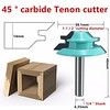 "Wood Cutter Tools 45 Degree Lock Miter Router Bit 1/four"" Shank 1-1/2"" Diameter New - DiZiWoods Store (diziwoods) Tags: bit cutter degree diameter diziwoods lock miter router shank store tools wood"