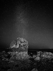 RockStar (stephen cosh) Tags: ayrshire blackandwhite dunure hasselbladx1d hasselbladxcd30mm landscape mediumformat milkyway scotland stephencosh