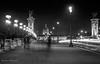Sur le pont Alexandre III -Paris (Bouhsina Photography) Tags: rue street longue exposition pont paris france 2017 pietons bouhsina bouhsinaphotography canon 5diii silhouette noiretblanc bw