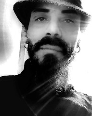 """Black Self-Portrait"" (giannipaoloziliani) Tags: giannipaoloziliani beardman bear barbuto lightsrays live blackandwhiteportrait grezzo selfietime selfiemoment tag controluce obscurity sexymen backlight male homme photo sexy darknessportrait uomo menphotos photography blackstyle flickrmen flickr raw style darkness dark manbearded manportrait mystyle hard barba earrings face eyes beard longbeard bearded lightsandshadows lights shadows retrato shot shooting autoscatto selfportrait selfie portrait photographer artist man men blackandwhite bianconero monochrome monocromatico justme myself nero noir black blackartist me io"