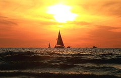 Sailing at sunset - Tel-Aviv beach (Lior. L) Tags: sailingatsunsettelavivbeach sailing sunset telaviv beach sea sailboats telavivbeach israel travel