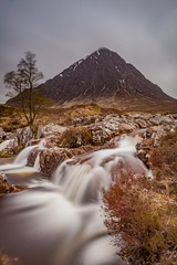 Buachaille Etive Mor and the River Coupall (Chris_Hoskins) Tags: wwwexpressionsofscotlandcom scottishlandscapephotography landscape waterfall glencoe scottishlandscape rivercoupall buachailleetivemor scotland