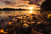 Glowing (marcmyr) Tags: natur warm summer lake sea peaceful licht burst 1020mm d5200 nature ireland nikon sun star bright glowing light