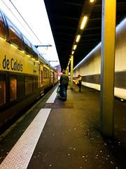 Aller on rentre et vacances ! Bonnes fêtes à tous 😊 (fourmi_7) Tags: hautsdefrance lilleflandres lille retour quai gare ter train