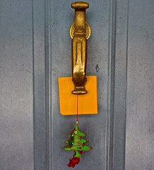 Happy Cheesemas to All! (ricko) Tags: cheese processed door doorknocker ornament christmas christmastree werehere 358365