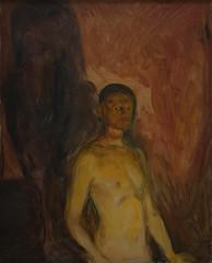 Edvard Munch, Self-Portrait in Hell, 1903 6/26/17 #sfmoma (Sharon Mollerus) Tags: edvardmunchbetweentheclockandthebedexhibit sfmoma sanfranciscomuseumofmodernart sanfrancisco california unitedstates us cfptig17