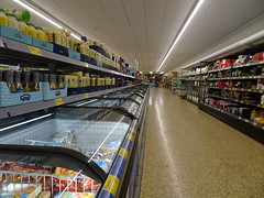Are you free? (stevenbrandist) Tags: aisle aldi leicester store supermarket empty