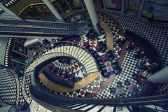 Quartier 206, Berlin (Erroba) Tags: berlin quartier206 gallerieslafayette indoor black white tiles stairs escalator bar erlend robaye erroba belgium belgië belgique canon 5dmarkiii