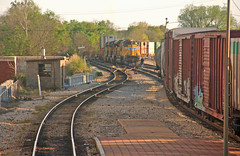 Following Amtrak (craigsanders429) Tags: aboardamtrak kansascitysouthernlocomotives canadiannational jacksonmississippi boxcars amtrakstations stacktrains unionpacificmotivepower unionpacificlocomotives tracks railroadtracks
