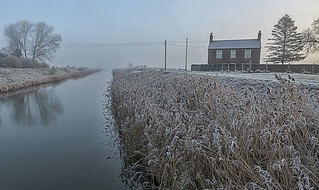 Frosty Fenland morning
