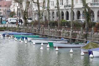 Canal du Vassé, Annecy, Haute-Savoie, Rhône-Alpes, France.