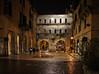 Porta dei Borsari at night (Tigra K) Tags: verona veneto italy it 2011 antiquity architecture balcony city light night portal rain road ruin texture wall window pattern arch