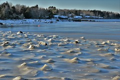 Freeze Over (jonfromnsca) Tags: ice cove bay winter iceover freezeover iceup buoy boat wharf nikond3300