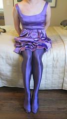 Purple1 (sensuousPH) Tags: pantyhose tights ceciliaderafael uppsala amatista crossdress cd tstrap pumps satin party dress purple heels charmeuse