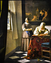 Johannes Vermeer - Woman Writing a Letter with Her Maid, 1671 (National Gallery of Ireland Dublin) at Vermeer and the Masters Exhibit at National Gallery of Art - Washington DC (mbell1975) Tags: washington districtofcolumbia unitedstates us johannes vermeer woman writing letter with her maid 1671 national gallery ireland dublin masters exhibit art dc nga museum museo musée musee muzeum museu musum müze museet finearts fine arts gallerie beauxarts beaux galleria painting dutch flemish golden age grand