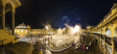 Széchenyi thermal bath Panorama (Chris B70D) Tags: budapest buda pest hungary capital city europe travel travelling citybreak holiday break winter december 2017 urban photography landscape architecture buildings texture detail composition reflectionc material form photo trip pov night day christmas market glass stone brick view scene canon 70d 18135 1116 tokina ultra wide angle zoom focus raw edit framed sky beautiful mosque cathedral church street clear spa thermal cold freezing degrees cars windows photographer széchenyi bath long exposure swoosh shutter speed