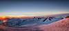 Sunset & Snow On Mauna Kea Pano 01 (JUNEAU BISCUITS) Tags: maunakea maunakeasummit summit hawaii bigisland sunset landscape nikond810 nikon observatory astronomy universityofhawaii snow winter panorama pano