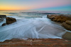 Backyard Envy (tltichy) Tags: lajolla beach blue california coast dawn light longexposure morning ocean outdoors pacific pink reef rock rushing sandiego seascape socal southerncalifornia stairs sunrise surf water waves yellow
