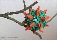 Валя, с Днём рождения! (irina_chisa) Tags: origami kusudama