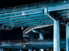 1959 elevated central freeway (pbo31) Tags: bayarea california nikon d810 color december 2017 winter boury pbo31 sanfrancisco urban city night black dark 101 80 centralexpressway elevated seafoam steel support soma showplacesquare highway 1959 divisionstreet somisspo