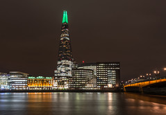 Shard lights (sarah_presh) Tags: theshard lights december 2017 london uk thames riverthames longexposure nikond750 green shardlights