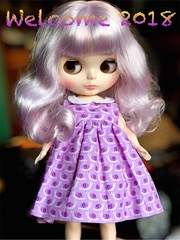 My adorable new addition welcomes in the New Year and wishes you all a bright and promising 2018!! My beautiful voluptuous lavender girl was a Christmas present from my sweet daughter! I was so surprised and I LOVE her!! She's perfect.