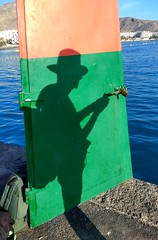 shadowman (curly_em) Tags: canaryislands loscristianos tenerife man silhouette sea harbour blue