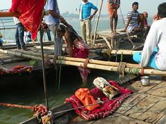 Allahabad, Triveni Sangam 13 - ritual bath (juggadery) Tags: 2015 india uttarpradesh water people religion hindu boattrip