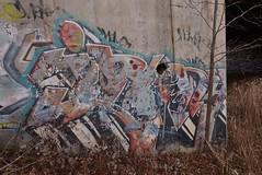 IRONY (TheGraffitiHunters) Tags: graffiti graff spray paint street art colorful nj new jersey cement wall irony