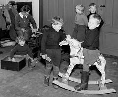Play without causing problems (theirhistory) Tags: boys children kids horse play shorts jumper wellies toy coats class form school pupils students education