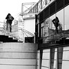 In the round (pascalcolin1) Tags: paris13 homme man reflet reflection escalier stairs miroir mirror spiralstaircases colimaçon photoderue streetview urbanarte noiretblanc blackandwhite photopascalcolin 50mm canon50mm canon