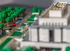 """14 - """"Helicopter"""" view of Madison Dr. in front of NMAH in early morning light (wrtyler) Tags: lego architecture nationalmuseumofamericanhistory nmah nationalmall washingtondc micro microscale"""
