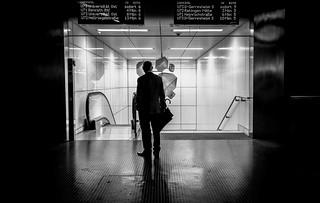 at the subway