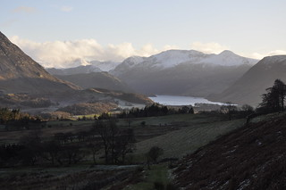 Late winter sun on the Buttermere valley