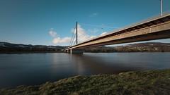 Linz Donaubrücke (georg.kaiblinger) Tags: donau österreich linz brücke langzeit wasser nikon sigma weitwinkel blau