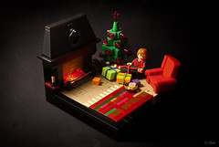 """– Looks like you've got one too!"" (_Tiler) Tags: lego christmas christmastree harrypotter gryffindor gryffindorcommonroom fireplace ron presents harrypotterandthesorcerersstone"