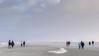 Hiking to the Horizon (ARTUS8f) Tags: nikon18105mmf3556 flickr menschen nikond90 winter strand strandleben personen sand himmel meer küste beach ocean people norderney