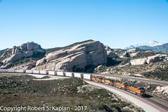 DSC_7284, Sullivan's Curve, Cajon Pass, CA, March 22/2012 (Rkap10) Tags: bnsf california es44dc importedtags locomotives other railroad