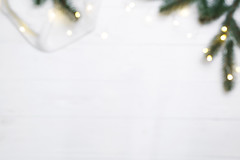 Christmas blurred composition. (lyule4ik) Tags: christmas background winter decoration holiday branch celebration table xmas frame composition border wallpaper ornament desk flatlay mockup wedding wooden lifestyle above overhead package romantic comfort anniversary arrangement 20172018 anisestar cardribbon copyspace creativeconcept firtree fluffyplaid giftbox handicraft homecozy knittedblanket merrychristmas newyear paperpresent pinecone topview trendvintage trendypostcard whitegreen wrapper white fir green