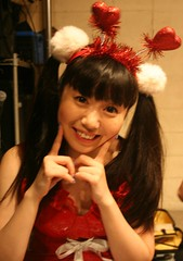 Happy Holiday Hearts (emotiroi auranaut) Tags: girl woman lady cute happy happiness pretty charming xmas christmas singer japan japanese beauty beautiful adorable red white