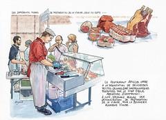 De l'animal à la viande, rencontre Clermont Ferrand Ville Apprenante Unesco (Cat Gout) Tags: auvergne clermontferrand clermontferrandvilleapprenanteunesco massifcentral sketch aquarelle reportagegraphique unesco