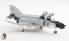 F-4B Phantom II of VF-74 Be-Devilers (Mad physicist) Tags: lego usnavy phantom f4b jet vf74 bedevilers 1965 cvw8 forrestal