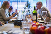 20171217_F0001: Apples, drinks and a camera (wfxue) Tags: meal table apples glass wine drinks food camera fujifilmxe2 people event bokeh